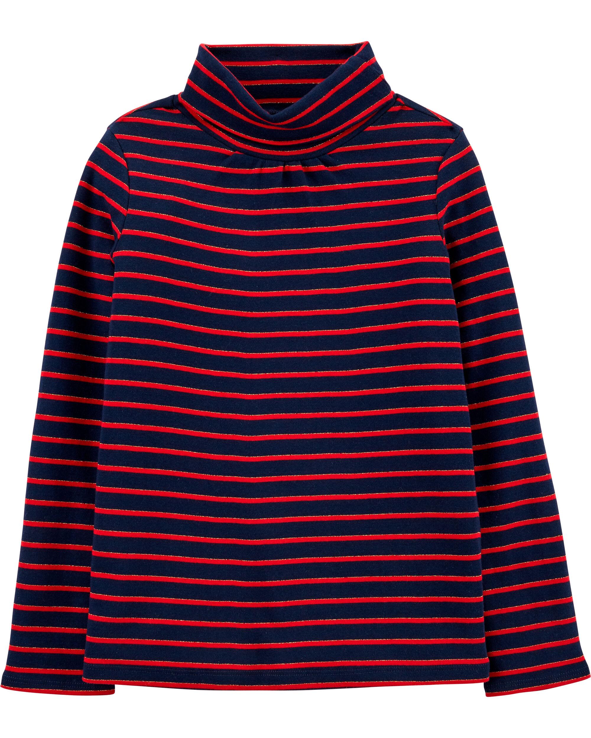 Sparkle Striped Turtleneck