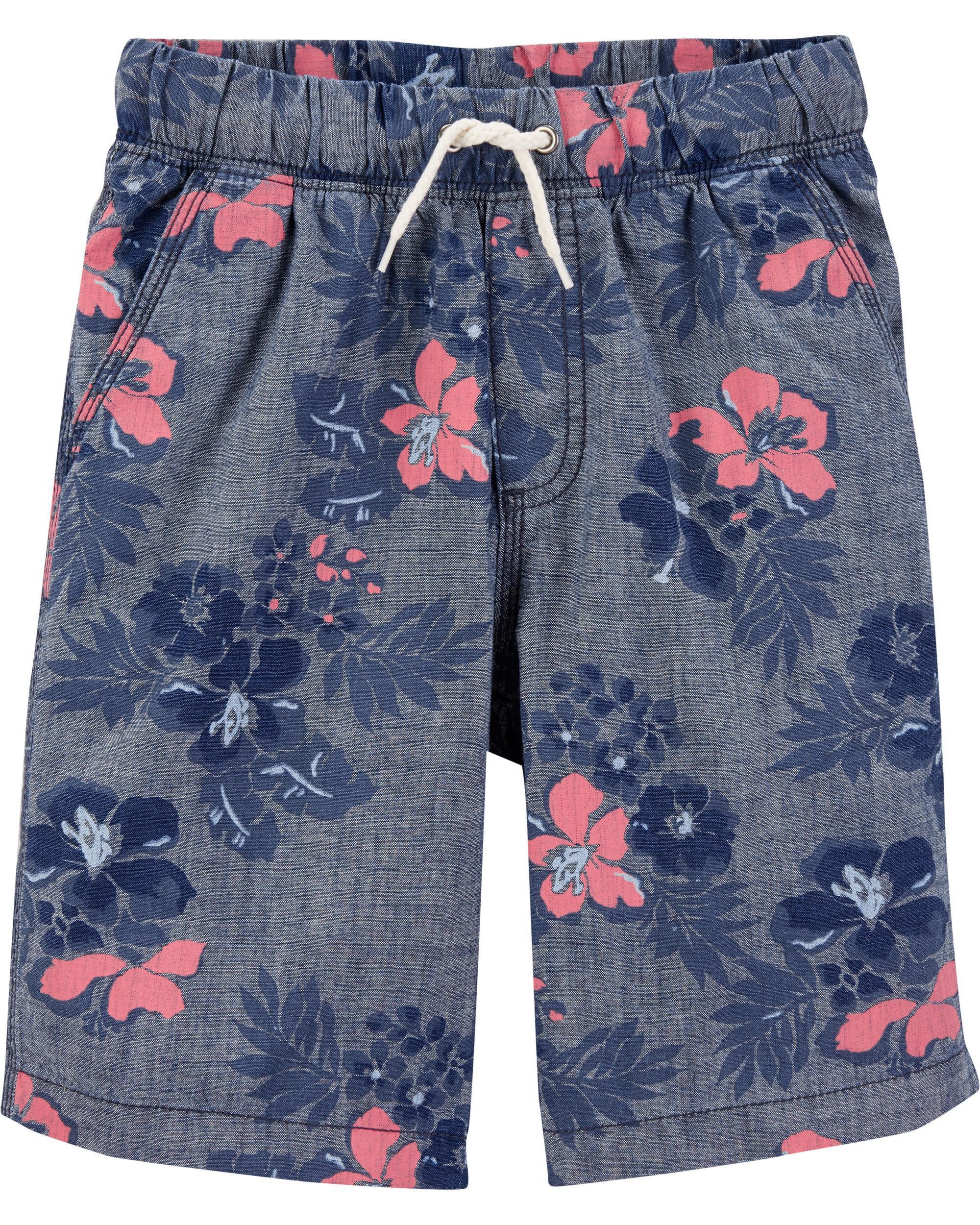 2-Toddler OshKosh BGosh Little Girls Chambray Beach Shorts
