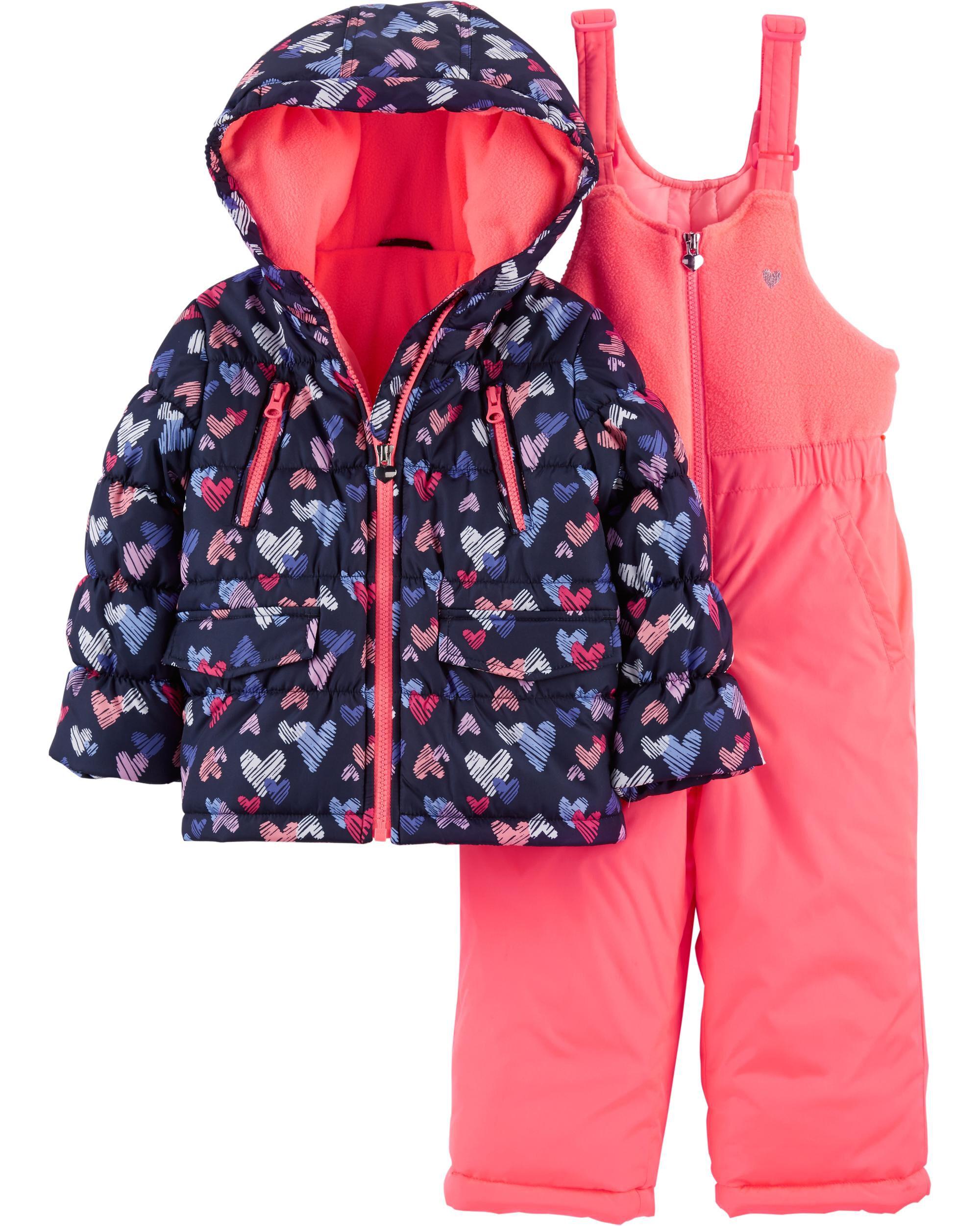 9ce8e765c 2-Piece Heart Snowsuit Set