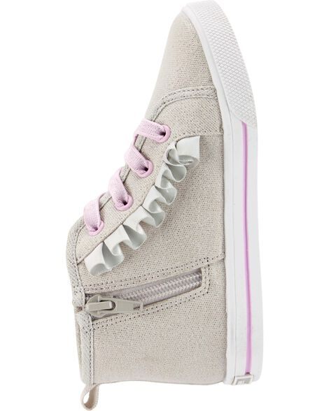 OshKosh Ruffle High-Top Sneakers