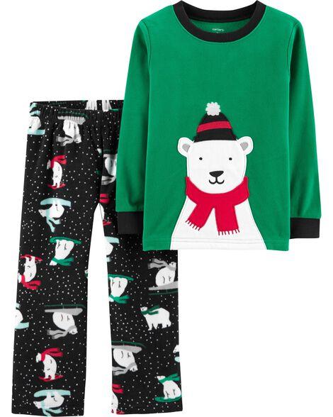 2492141e94d2 Baby Boy 2-Piece Christmas Fleece PJs