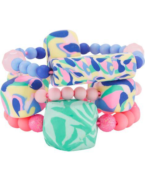 3-Pack Matte Beads Bracelets