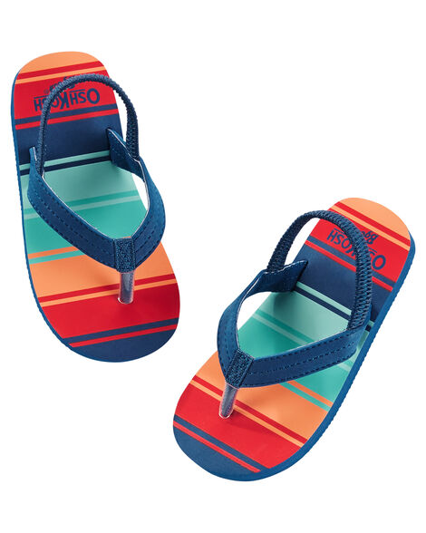 ead81d91dc88 Images. OshKosh Striped Flip Flops