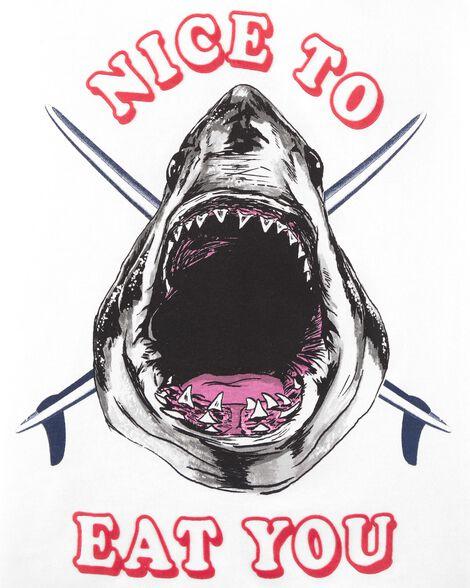 Nice to Eat You Shark Tee