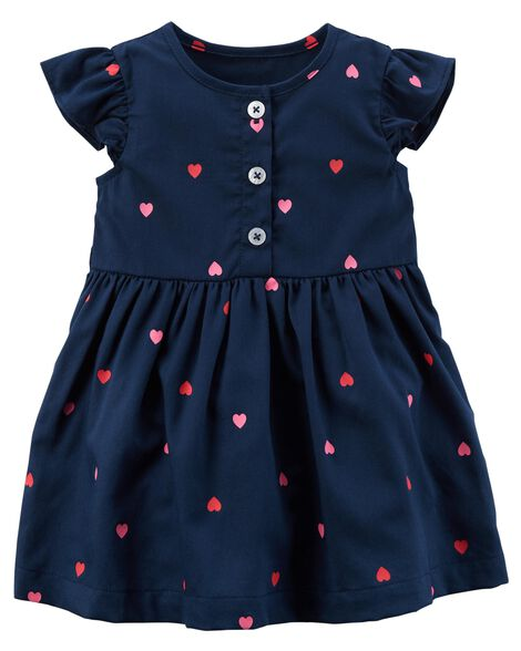 5276d633bbe8 Baby Girl Heart Flutter Dress