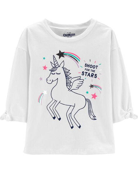 Tie Sleeve Unicorn Top