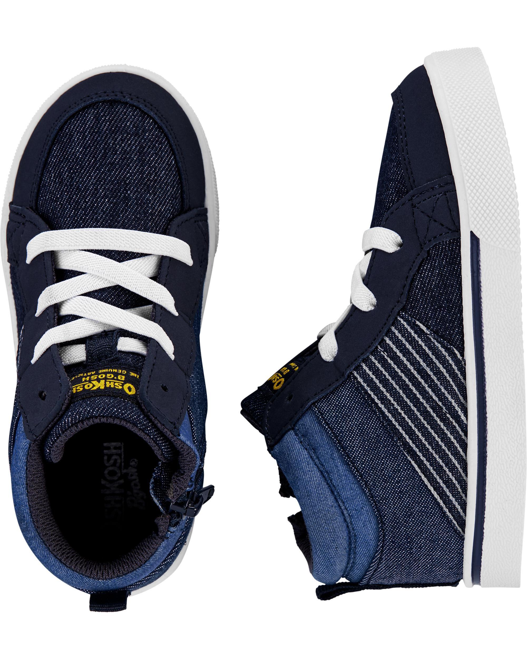 navy high top sneakers
