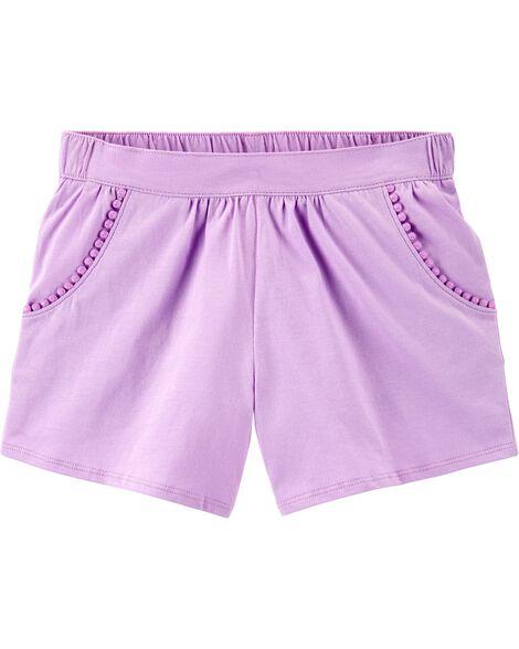 Pom-Trim Shorts