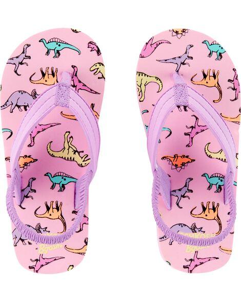 OshKosh Dinosaur Flip Flops