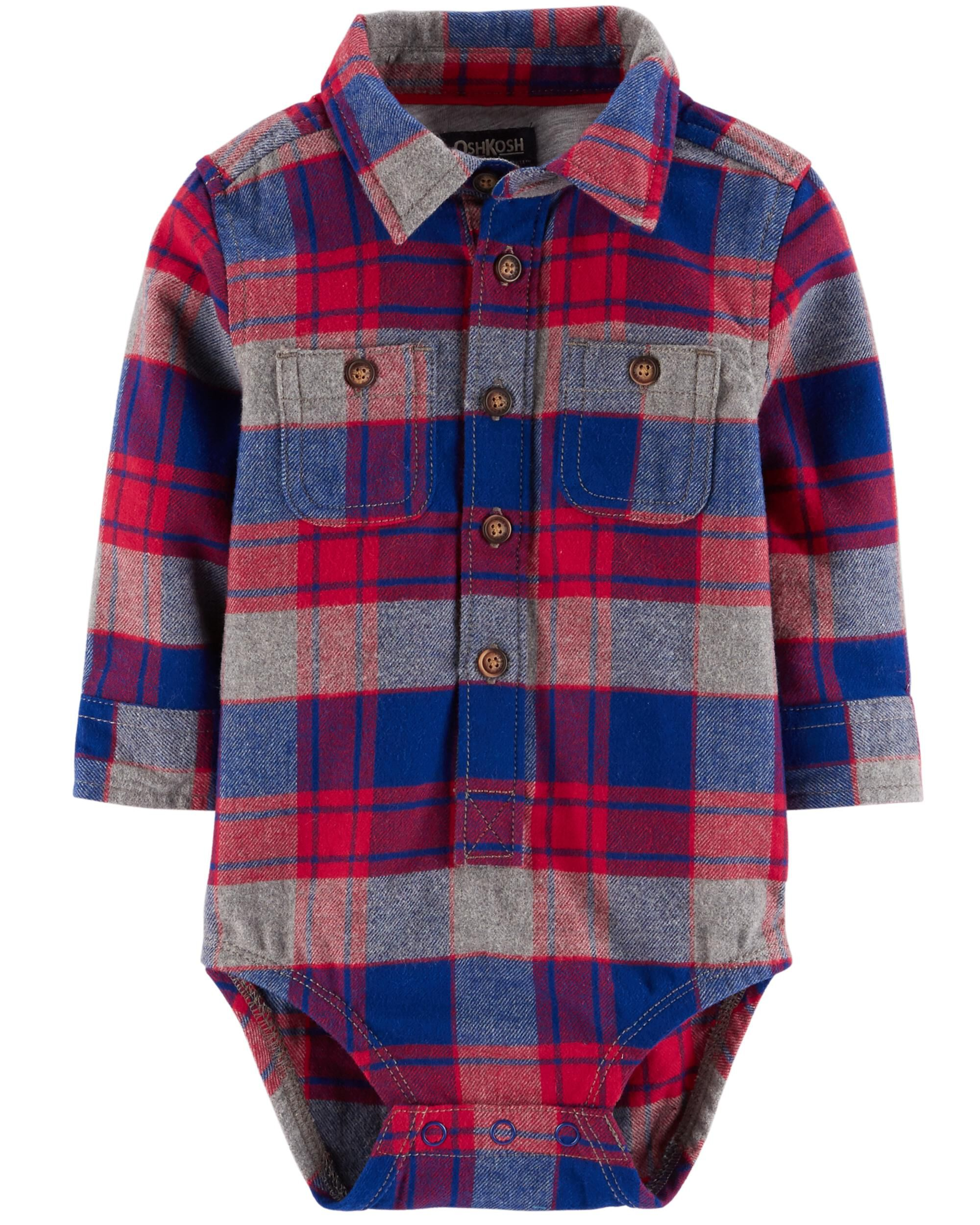 Oshkosh B/'gosh 6 9 12 Months 4T 5T Checkered Shortalls Baby Toddler Boy Clothes
