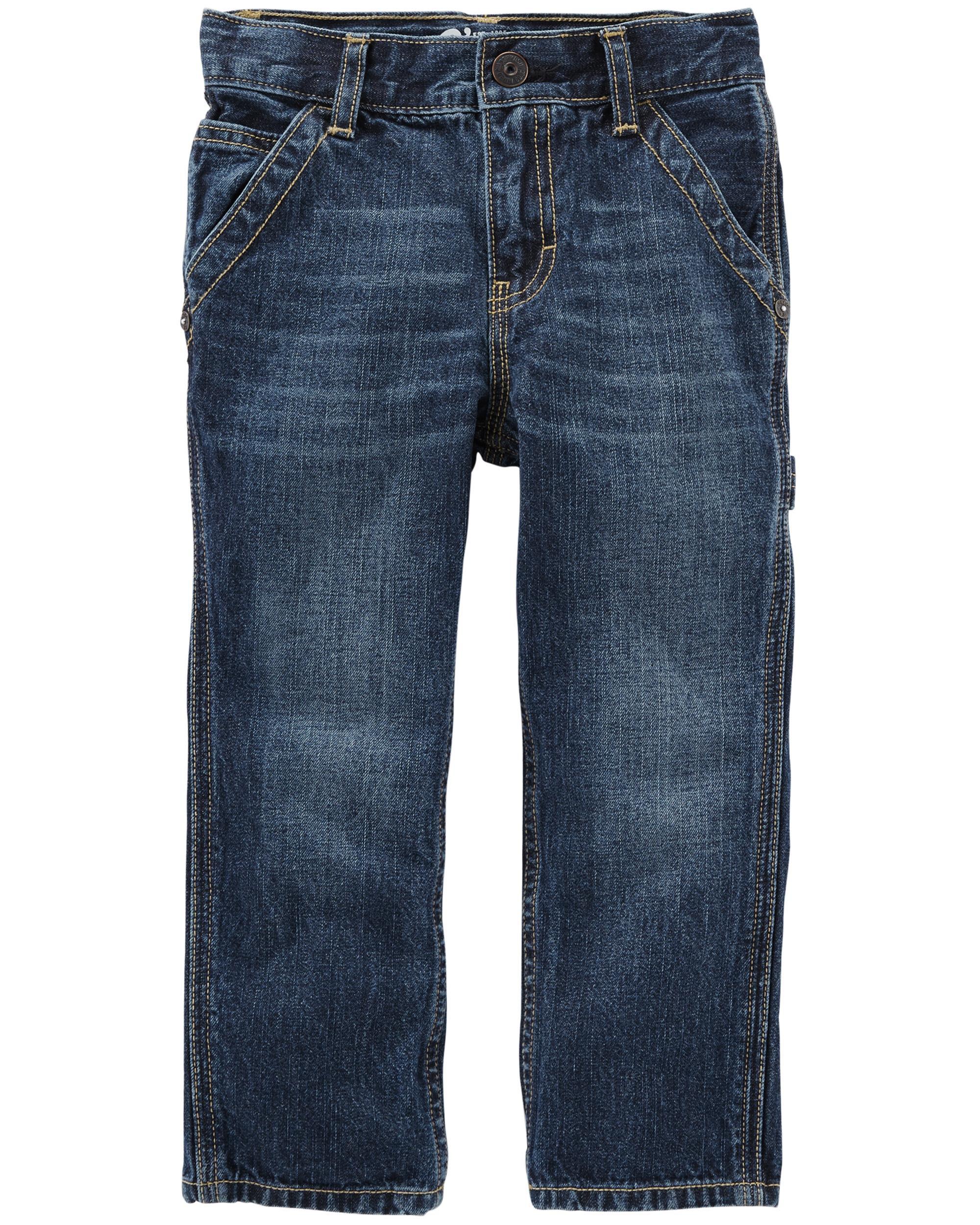 Workwear Straight Jeans - Vintage Blue