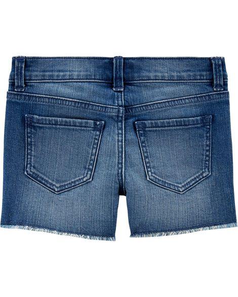Rainbow Stretch Denim Shorts