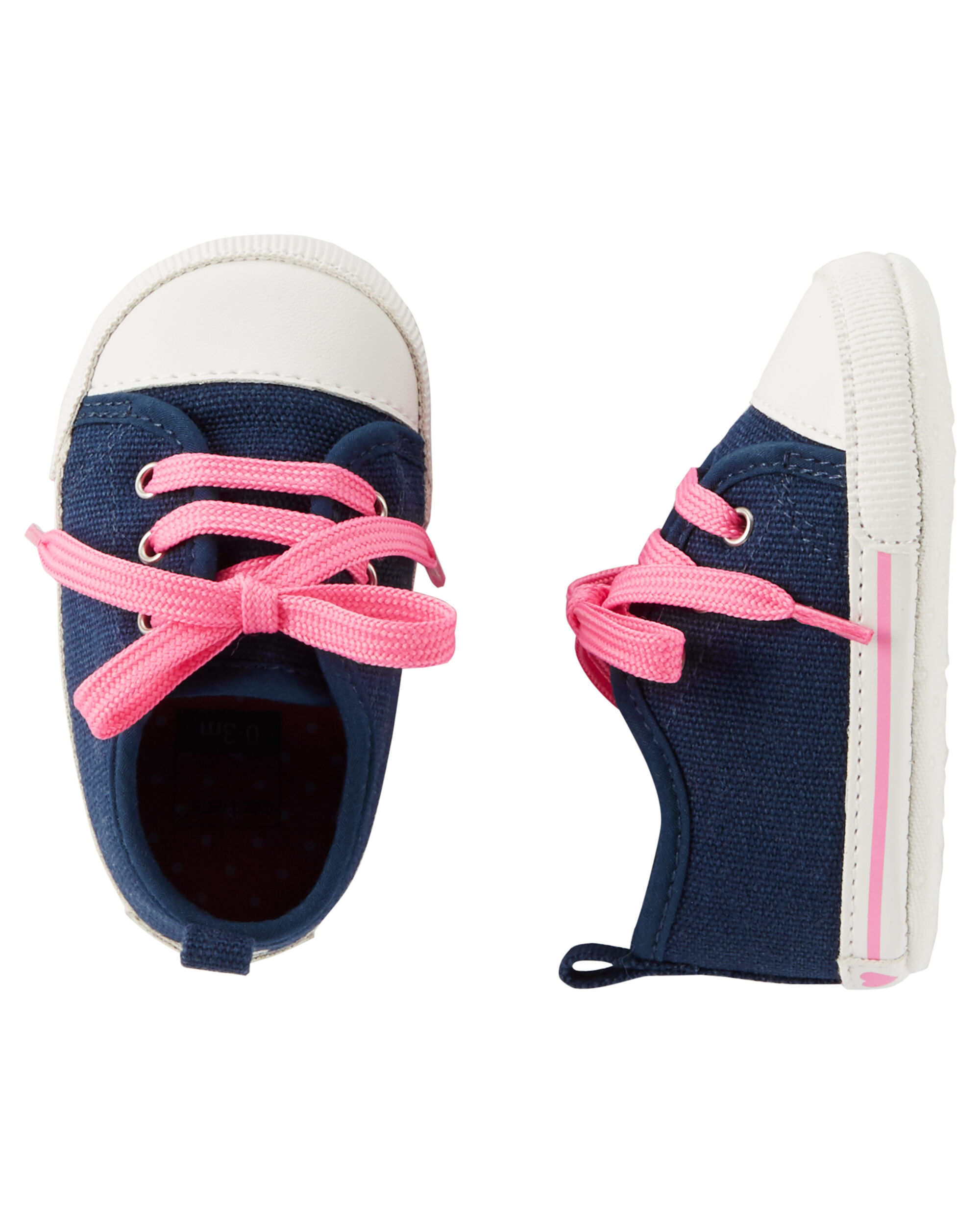 Baby Girl Carter's Heart Sneaker Crib Shoes | Carters.com
