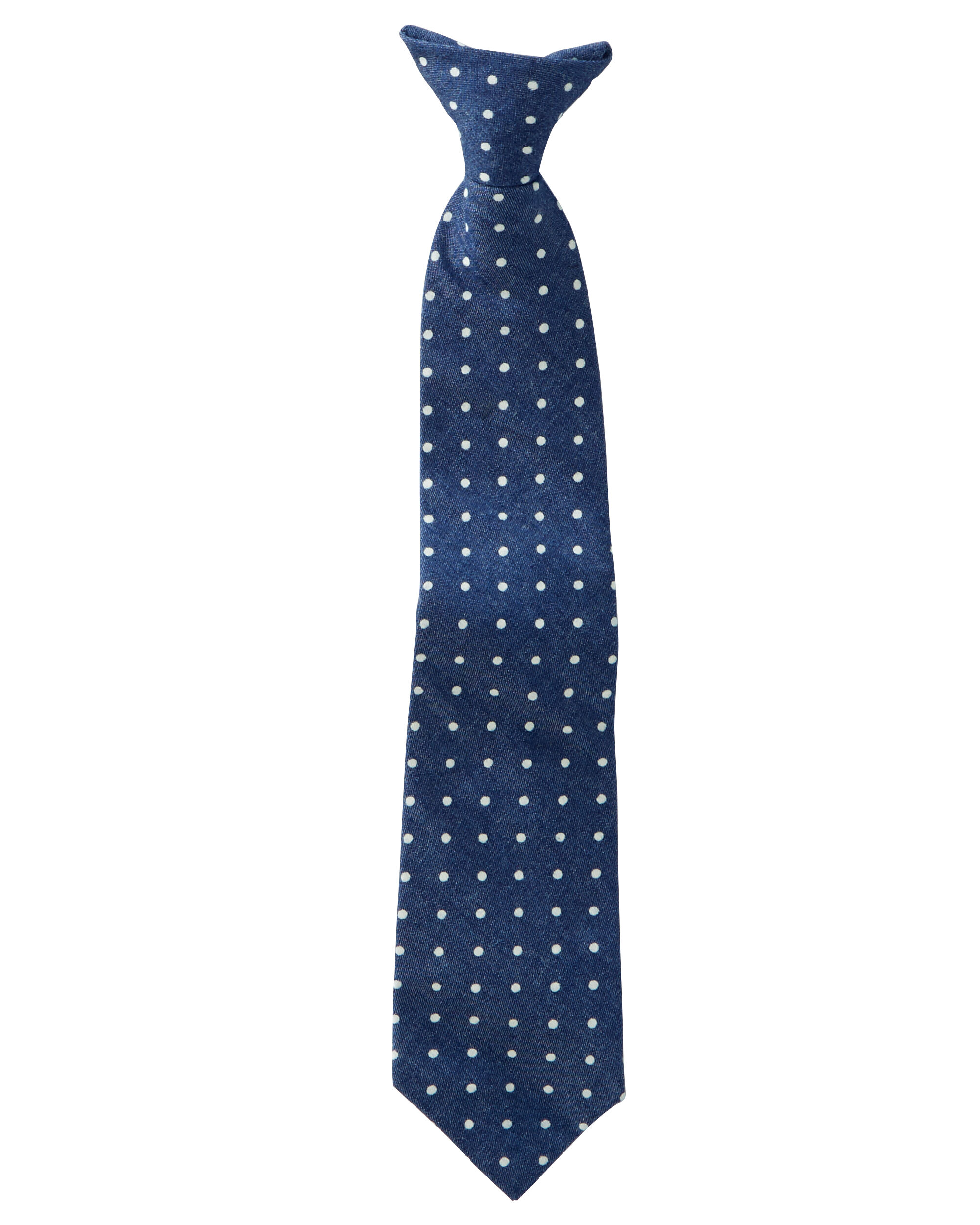Dot Print Clip-On Tie