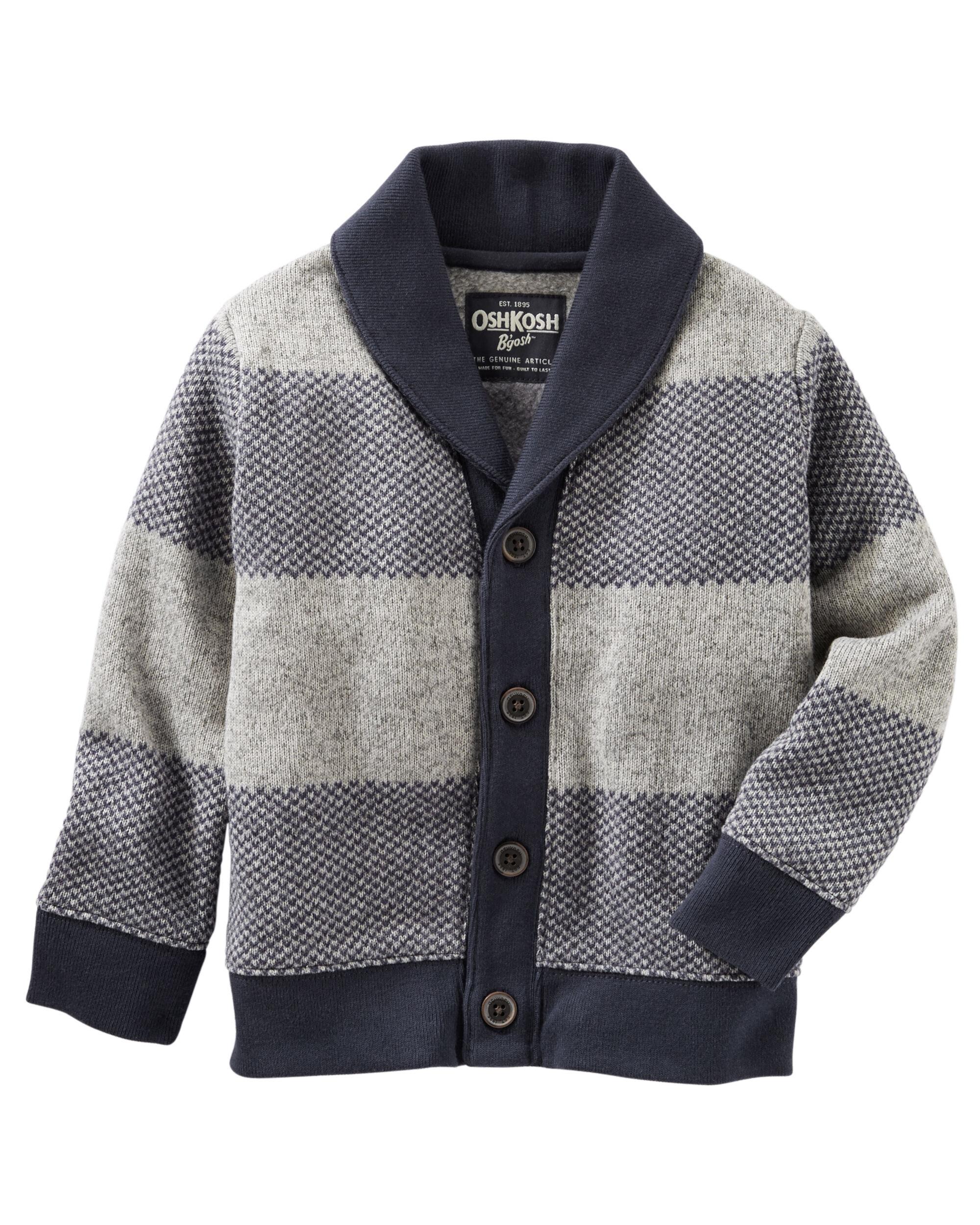 Sweater-Fleece Shawl Collar Cardigan | OshKosh.com