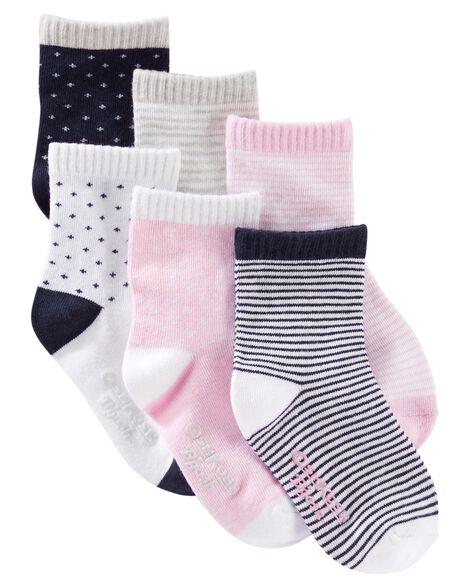 6-Pack Patterned Crew Socks