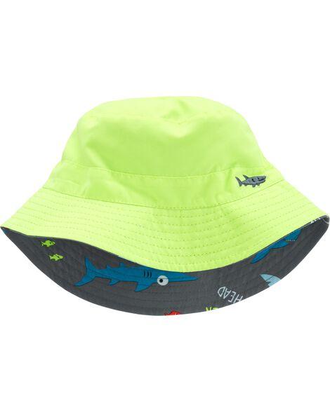 Baby Boy Reversible Shark Bucket Hat  71996896c79