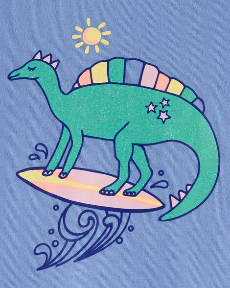2-Piece Surfing Dinosaur PJs