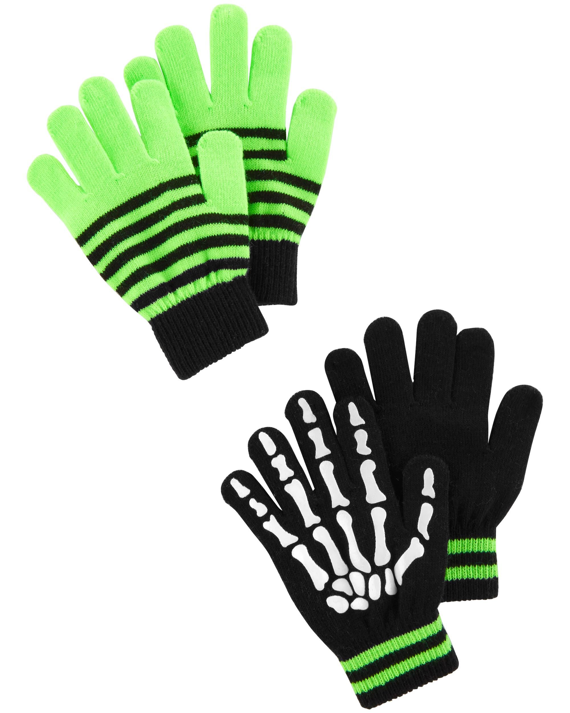 GLOVES GLOW IN THE DARK ACRYLIC SPANDEX POLYESTER