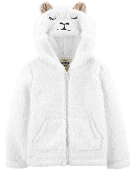 Fuzzy Llama Hoodie