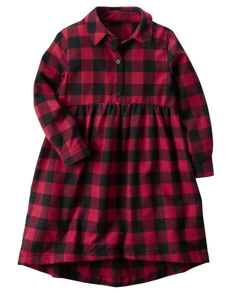 0e360b81483 Toddler Girl Buffalo Check Dress