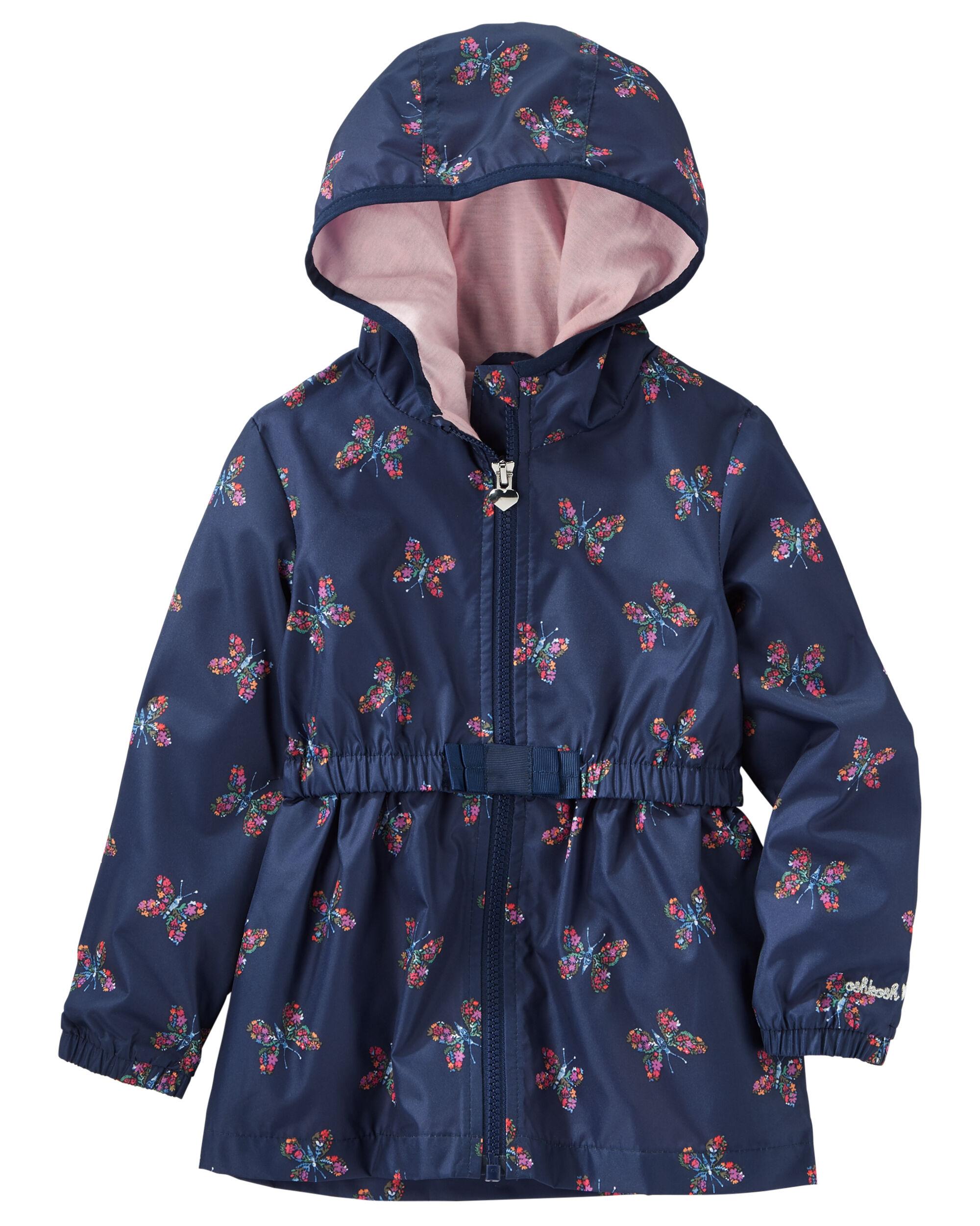 Butterfly Print Lightweight Hooded Jacket | OshKosh.com