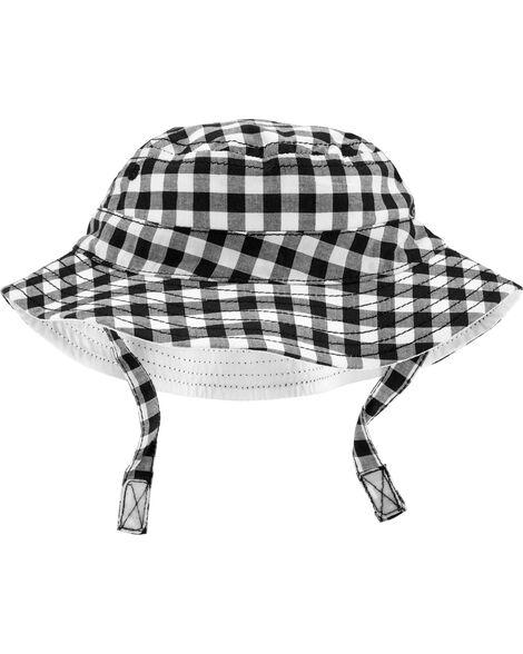 Baby Boy Gingham Bucket Hat  c53ead193f0