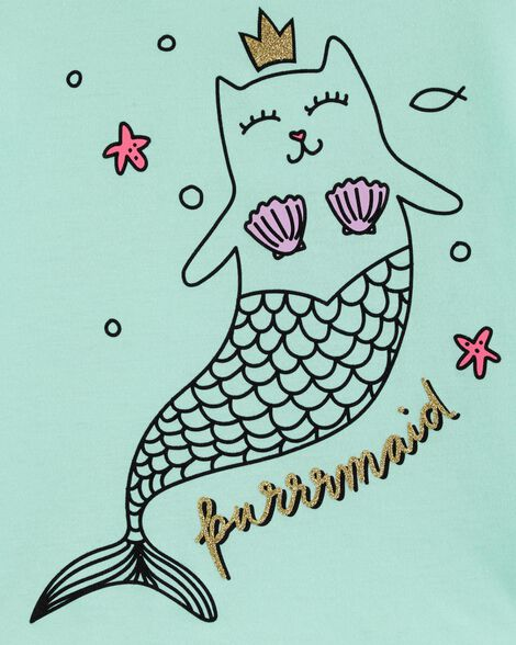OshKosh Originals Cat Mermaid Graphic Tee