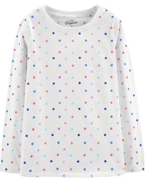 Jersey Rainbow Dot Top
