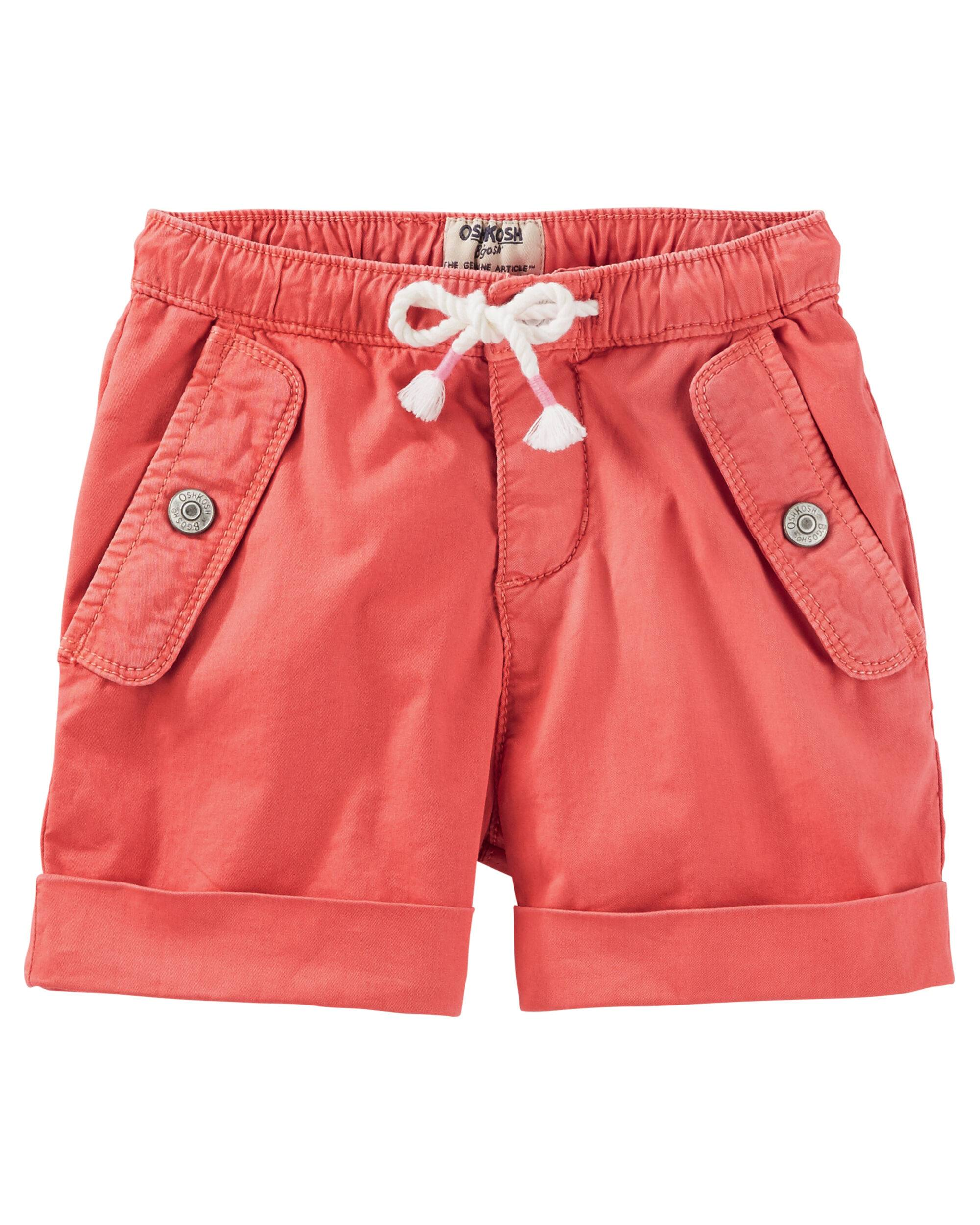 Pull-On Stretch Twill Shorts