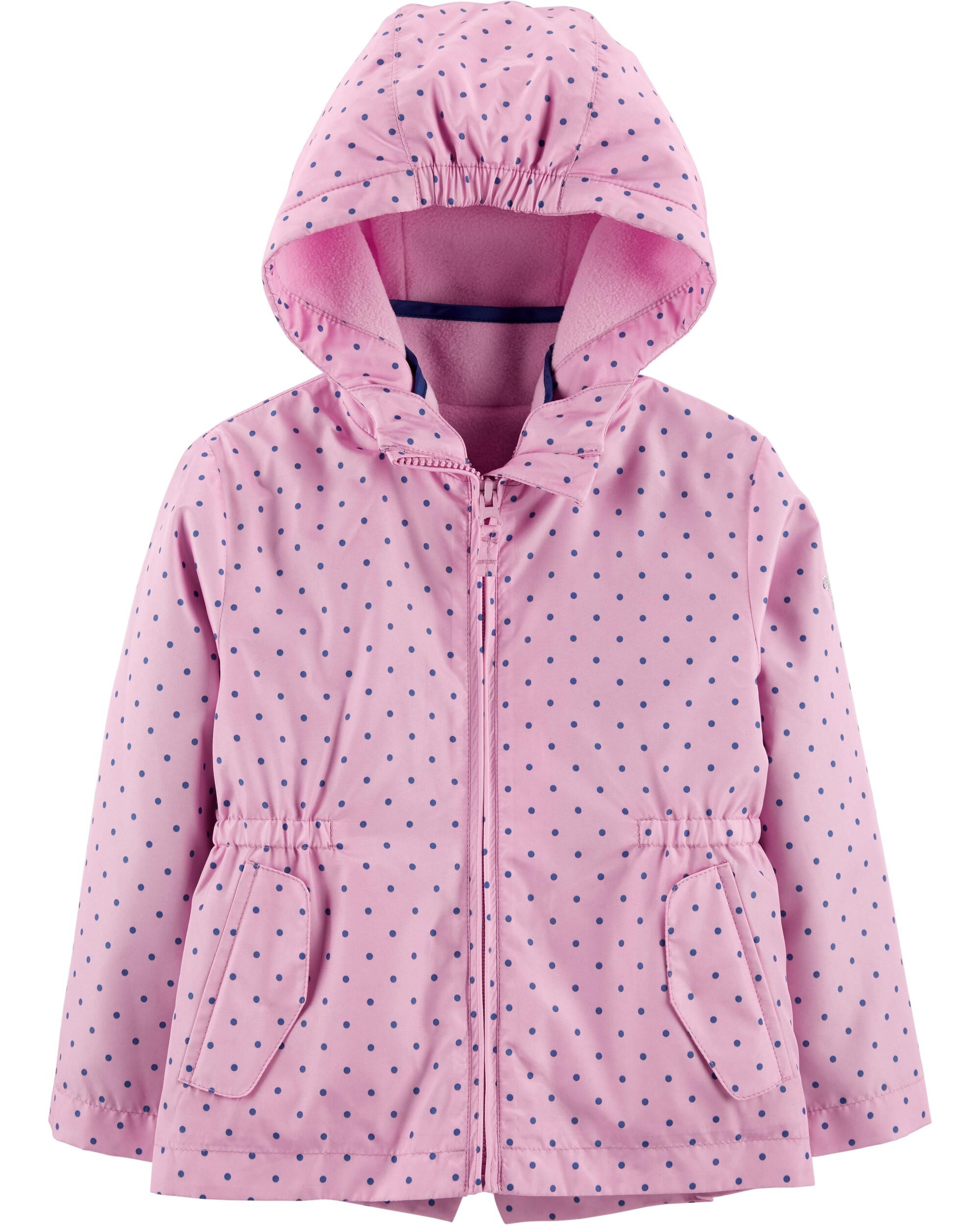 Baby Girls Purple Pink Padded Fleece Coat Jacket Size 18-24 2 Years Excellent Outerwear