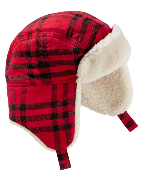e2899de4d2b4 Flannel Trapper Hat