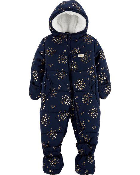 f4e240c04 Gold Stars One-Piece Snowsuit
