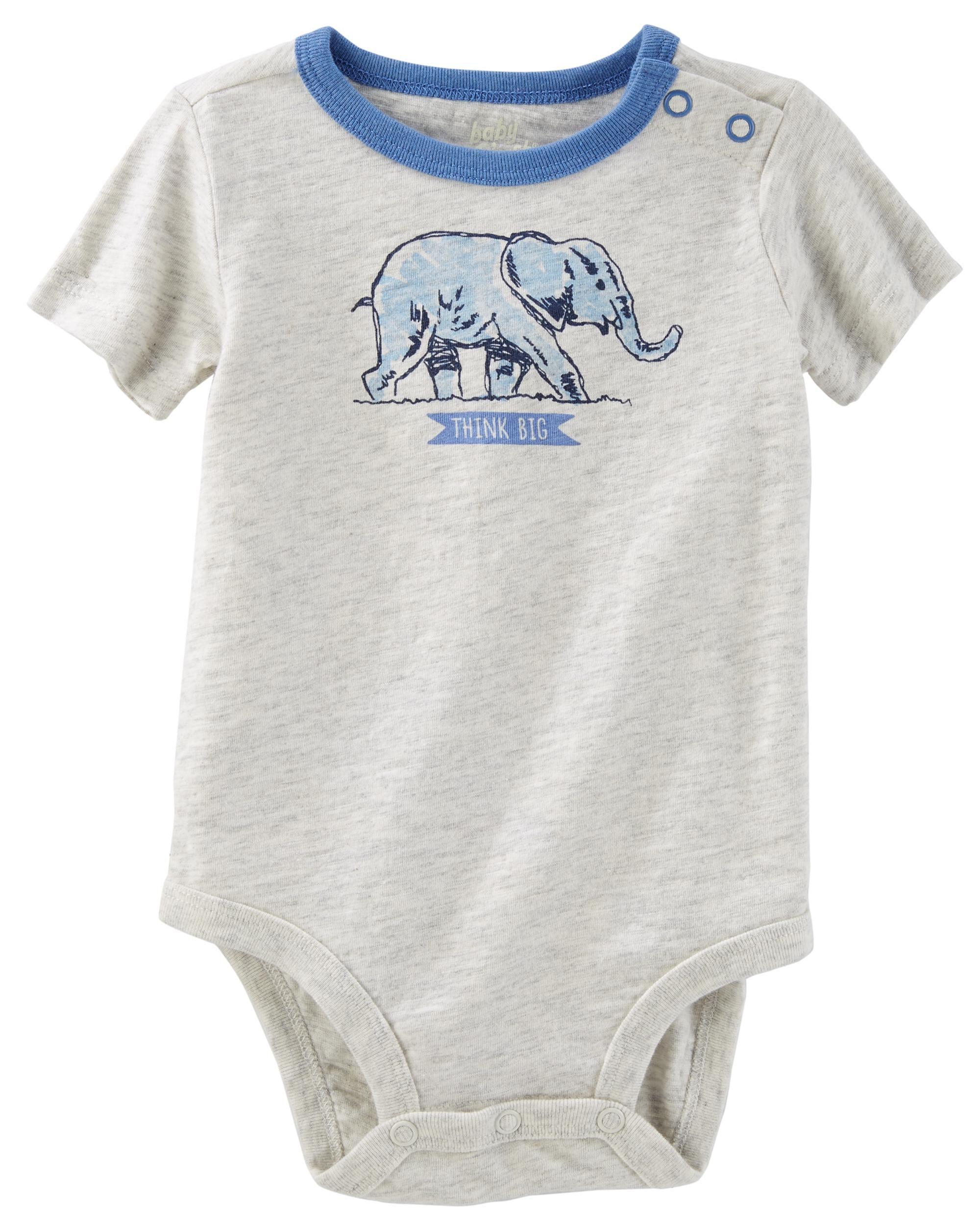 elephant jersey bodysuit