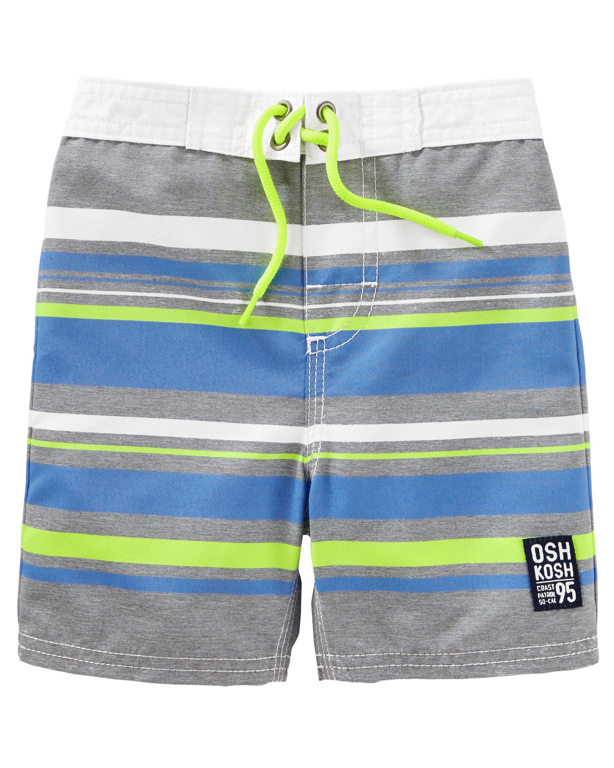 OshKosh Neon Stripe Swim Trunks