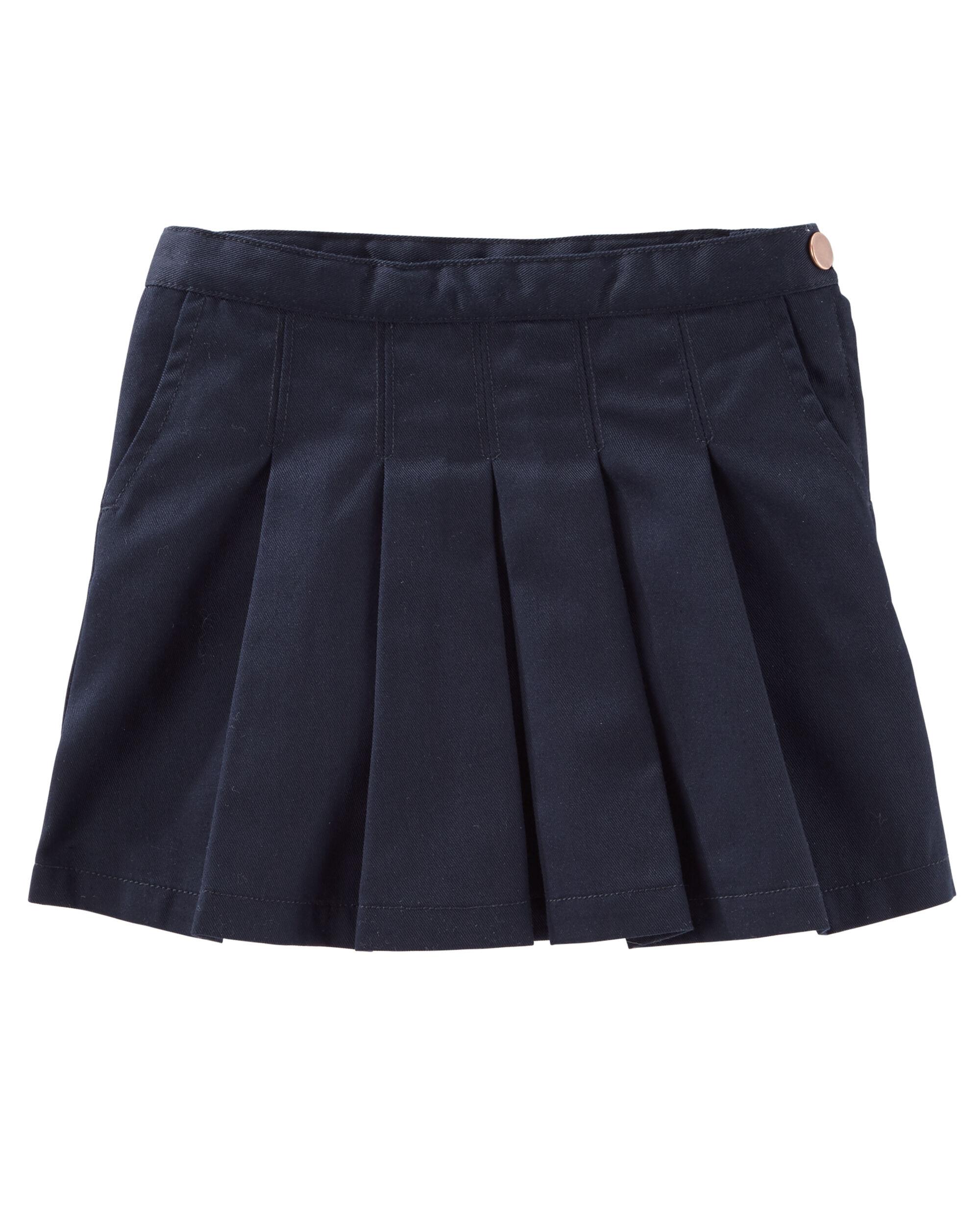 Osh Kosh Girls Kids Pleated Uniform Skirt