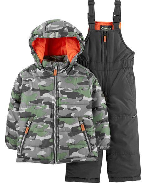 743c33d117a2 2-Piece Camo Snowsuit Set