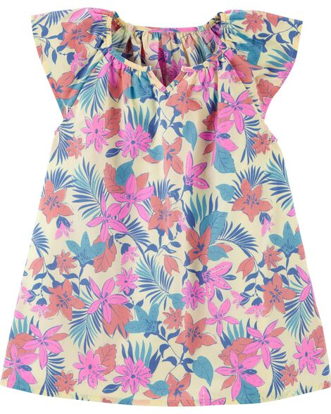 Drapey Tropical Floral Top