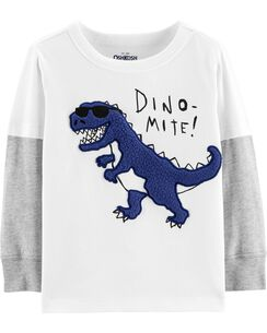 cb5fe6194 Layered Look Dinosaur Tee