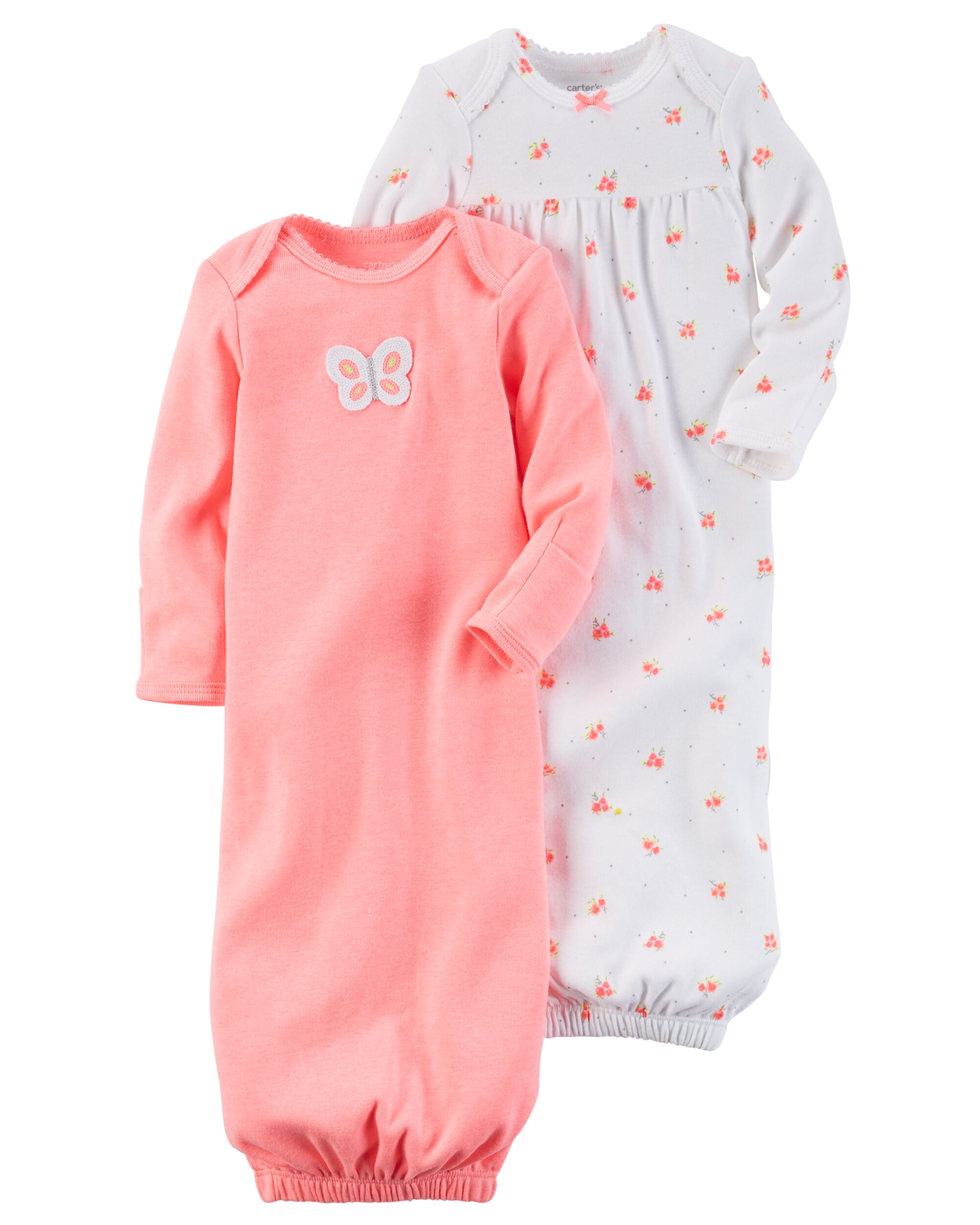 Baby Girl 2-Pack Babysoft Neon Sleeper Gowns | Carters.com