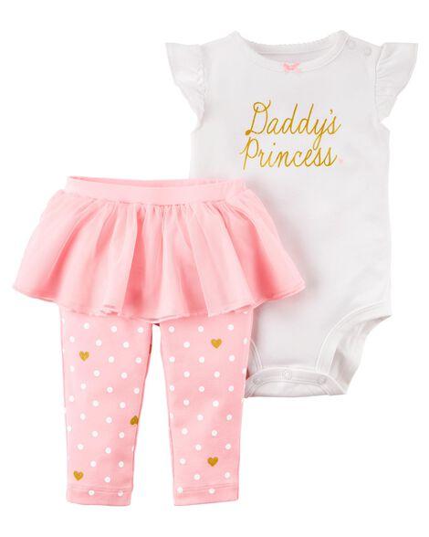 499ab67e7c75 Baby Girl 2-Piece Bodysuit   Tutu Pant Set
