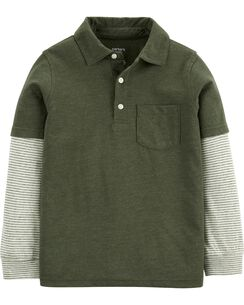 Layered Look Polo Shirt