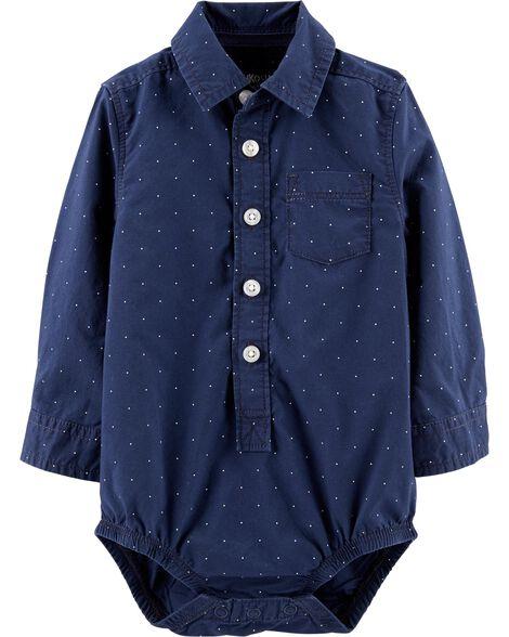 Dot Button-Front Bodysuit