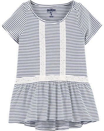 New Girl/'s White Top Shirt NWT Toddler Kids Size 12m Osh Kosh Oshkosh NYC Stars