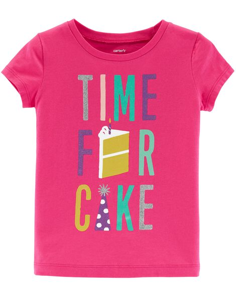 Images Time For Cake Birthday Tee