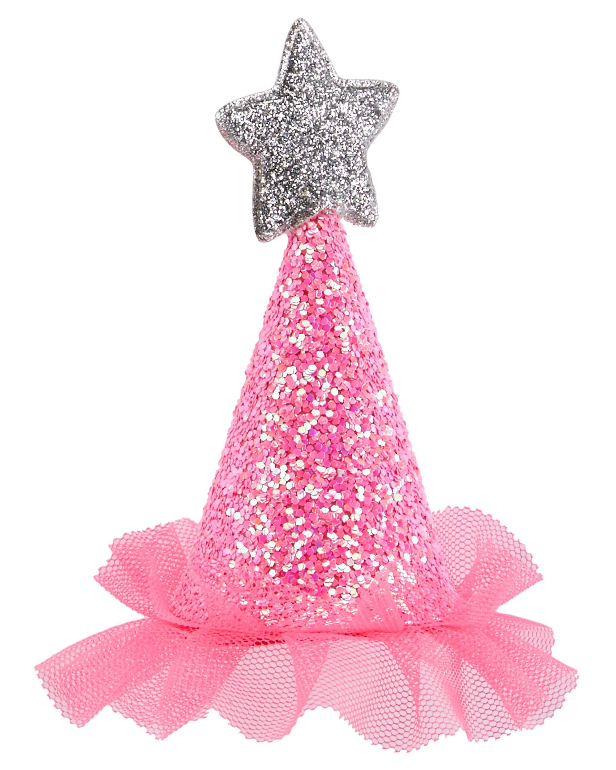 Mini Glitter Birthday Hat Clip | OshKosh.com