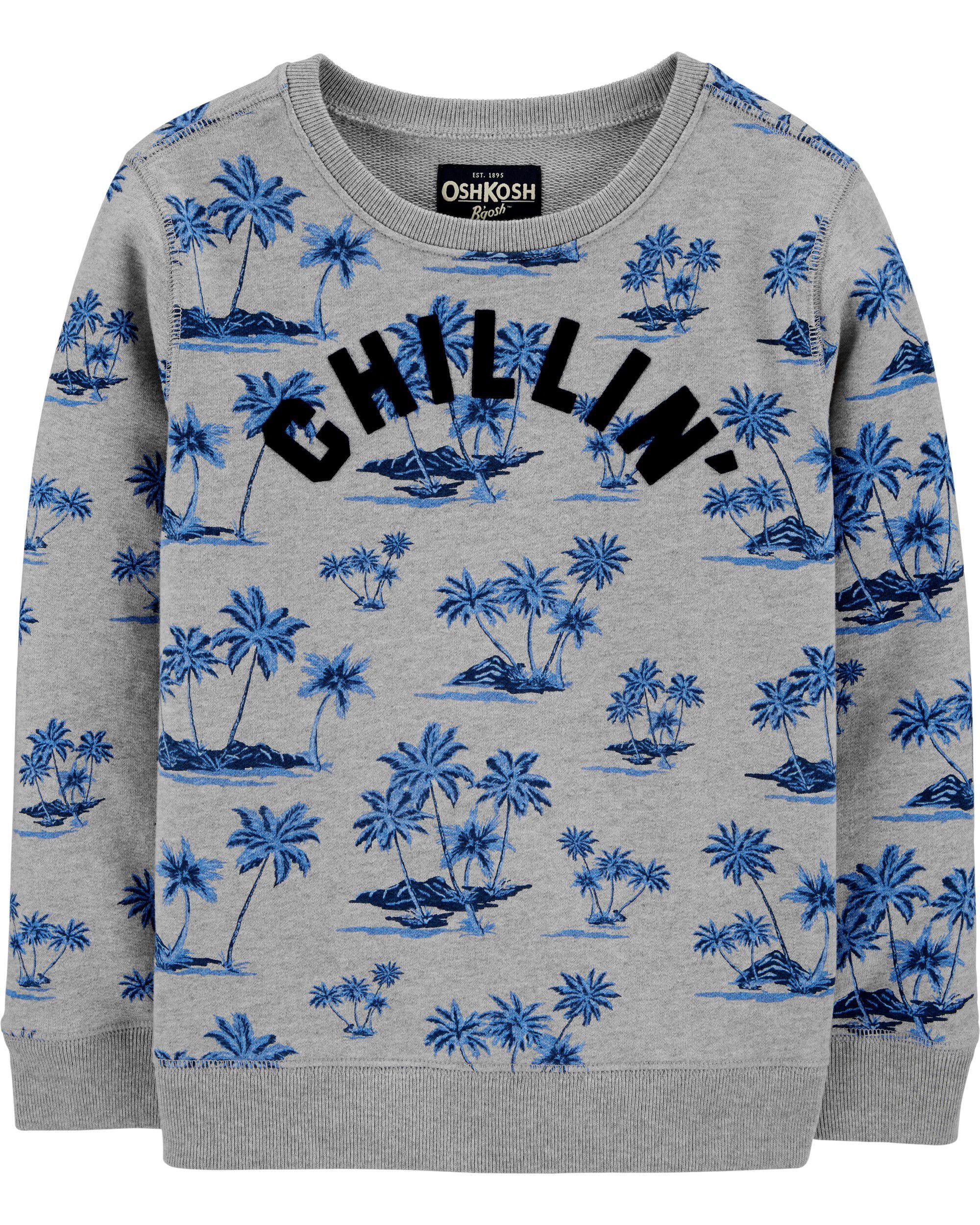 *CLEARANCE*Crew Neck Chillin' Sweatshirt