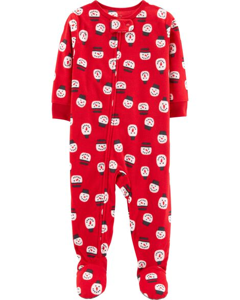 8430afca8 1-Piece Snowman Fleece PJs