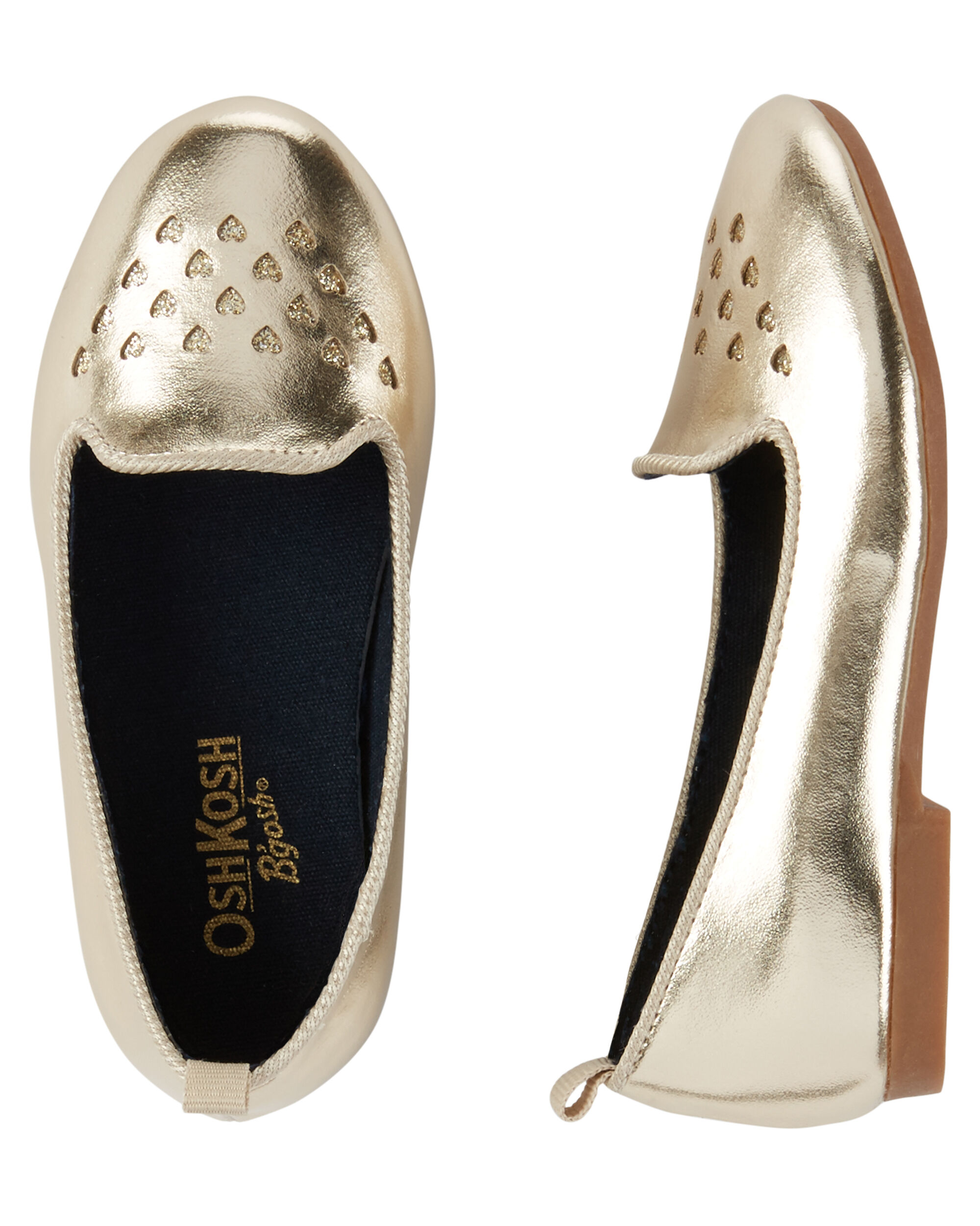 OshKosh Gold Laser Cut Loafers