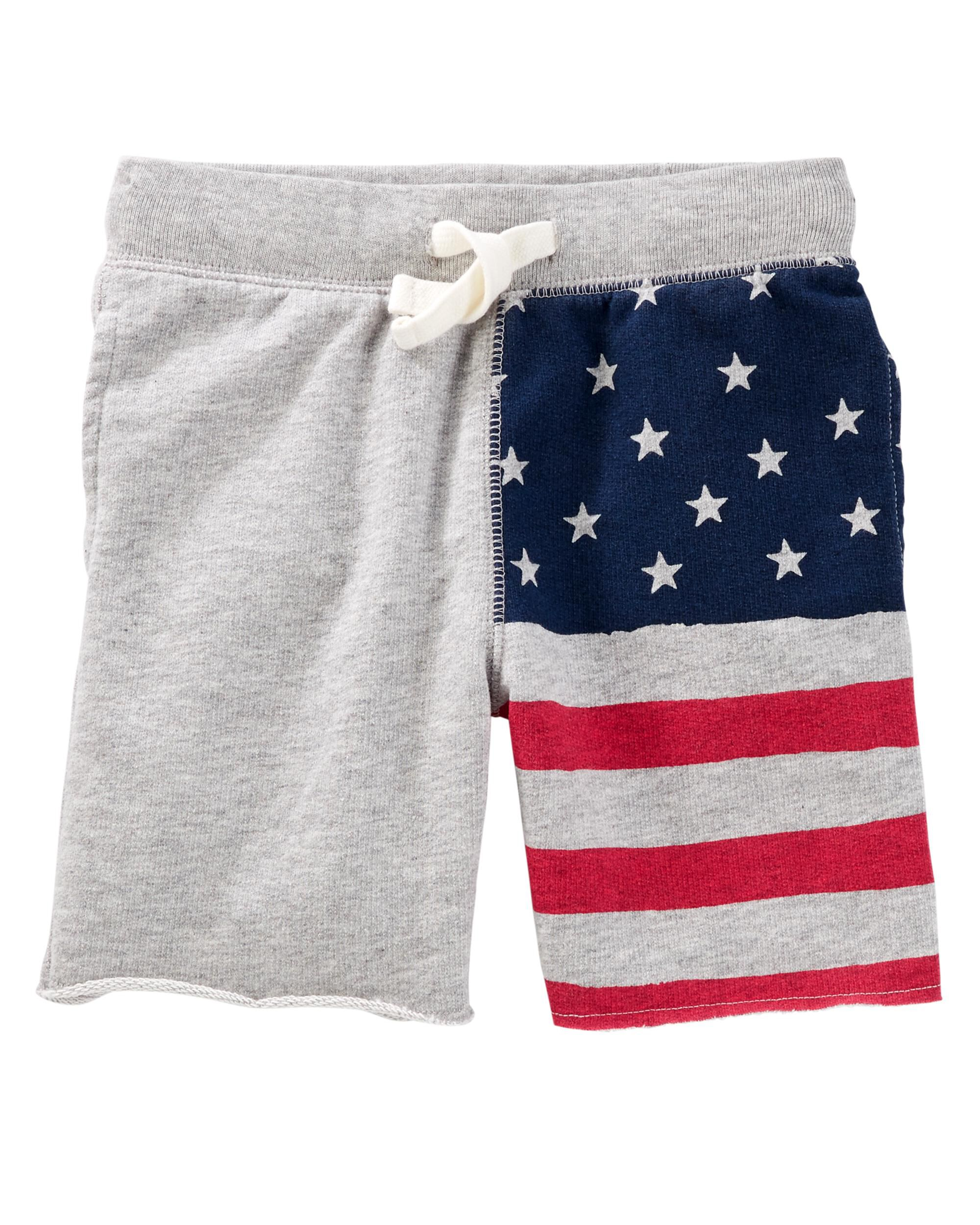 ef6af0b98bf Pull-On American Flag Shorts